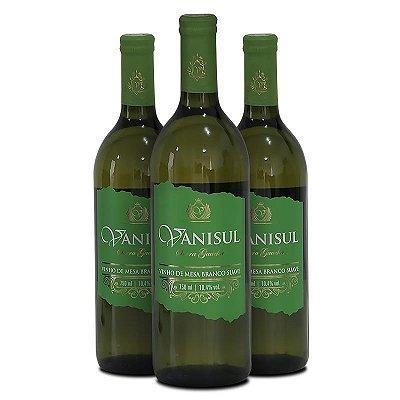 Vanisul - 3 Uni - Vinho de Mesa Branco Suave - 750ml