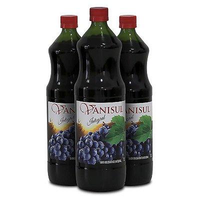 Vanisul - 3 Un. - Suco de Uva Tinto Integral - 1L