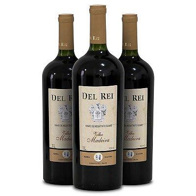 Vinho Del Rei - 3 Un. - Tinto Velha Madeira 1l