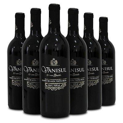 Vanisul - Vinho de Mesa Tinto Seco 750 ml (6 Garrafas)