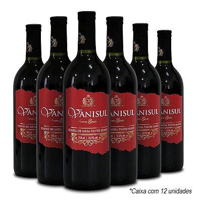 Vanisul - Vinho de Mesa Tinto Suave 750ml (12 garrafas)