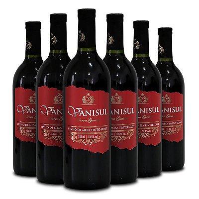 Vanisul - Vinho de Mesa Tinto Suave 750ml (6 garrafas)