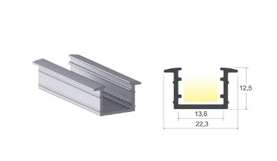 Perfil Alumínio Led 02 6 mts