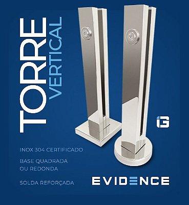 Torre Evidence Cromada Base Quadrada 30 cm