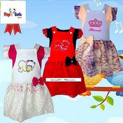 Vestidos Infantil de Renda