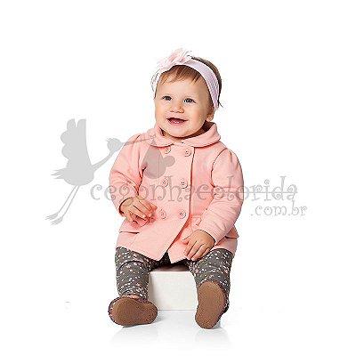 Conjunto Manga Longa Bebê Menina com Calça Floral Kiko Baby