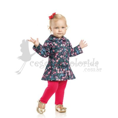 Casaquinho Bebê-Infantil Menina Floral Kaiani