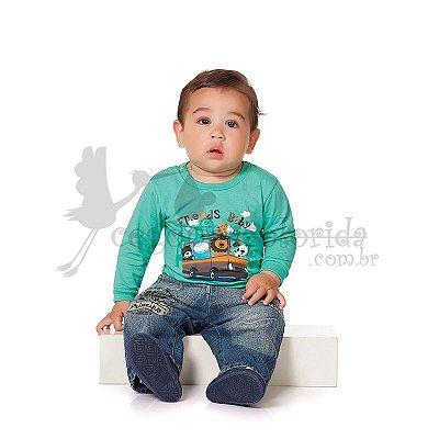 Camiseta Manga Longa Bebê Menino Friends Baby Kiko Baby