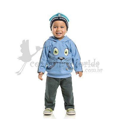 Conjunto Longo Bebê Menino Gatinho Kni Kids Kaiani