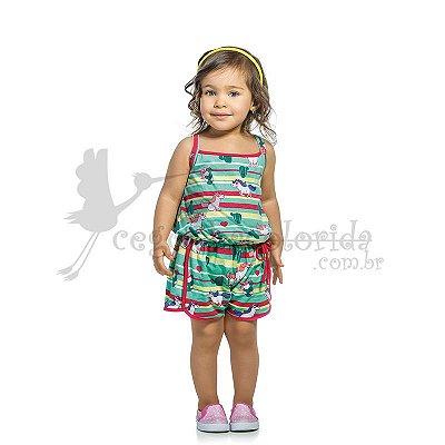 Macaquinho Infantil Menina Unicórnio