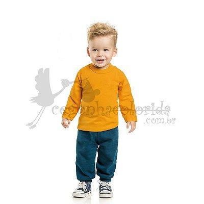 Calça Bebê-Infantil Menino em Moletom Felpado