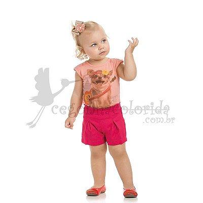 Body Manga Curta Infantil Menina Hippie Chic