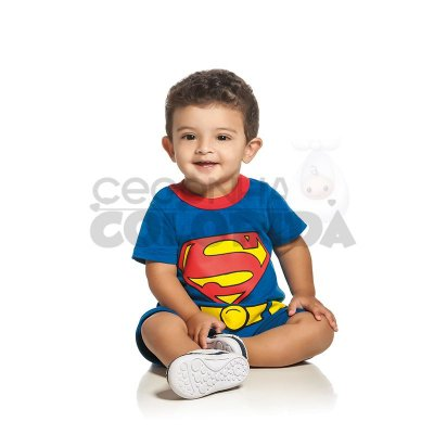 Macacão Curto DC Comics Originals Batman ou Superman
