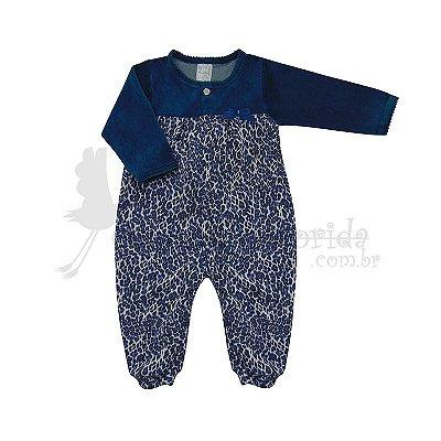 Macacão Longo Bebê Menina Animal Print