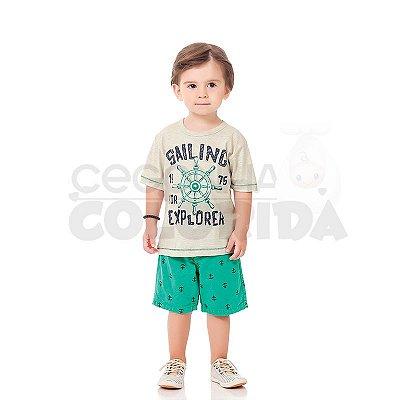 Conjunto Manga Curta Infantil Menino Sailing Explorer