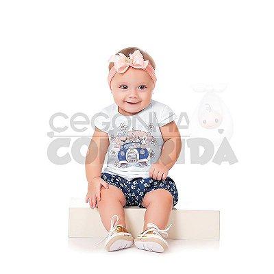 Conjunto Curto Bebê Menina Lovely Kiko Baby