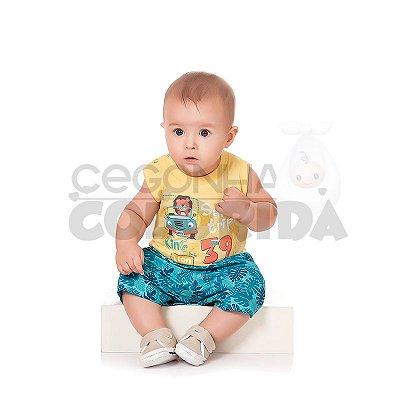 Conjunto Curto Bebê Menino Safari Trip Kiko Baby