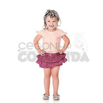 Conjunto Infantil Menina Babadinhos Charmoso Kiko & Kika