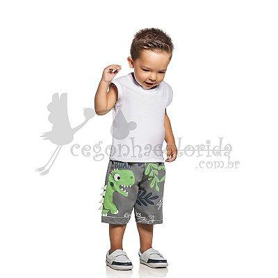 Bermuda Bebê-Infantil Menino Dinossauros