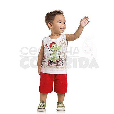 Camiseta Regata Bebê Menino Triciclo Radical