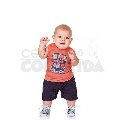 Camiseta Regata Bebê Menino Best Tour Kiko Baby