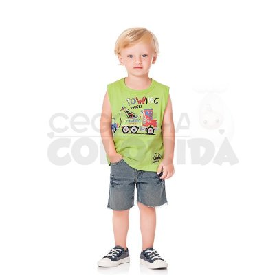 Camiseta Regata Infantil Menino Towing Service Kiko & Kika