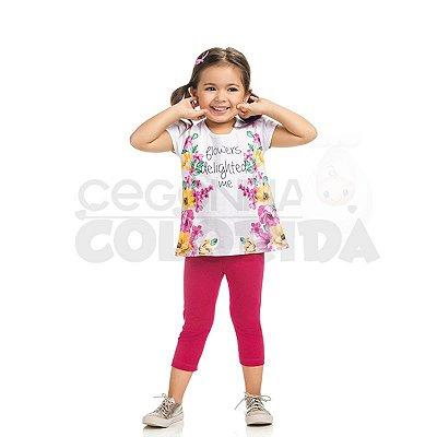 Conjunto Curto Infantil Menina Flowers