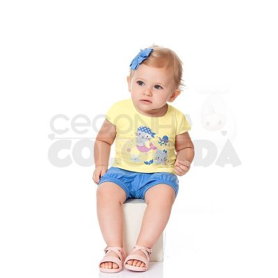 Conjunto Curto Menina Sereia Kiko Baby