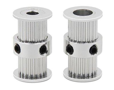 Polia GT2 Dupla 20 Dentes, Furo 8mm, P/ Correia 6mm