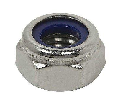 Porca Sextavada Auto-Travante - DIN 985 - M10 - 1,50 - Aço Inox