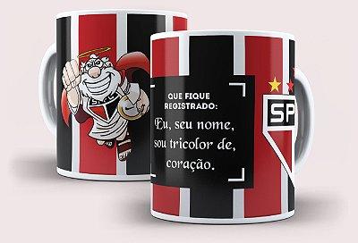 """Caneca São Paulino """"Que fique registrado"""" com nome"""