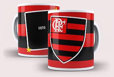 Caneca Flamengo com 1,2 ou 3 fotos