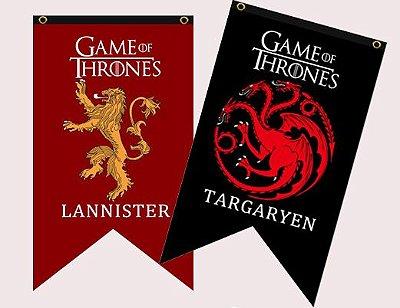 Bandeiras Casas Game of Thrones