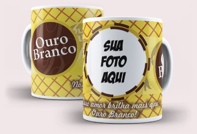 Caneca Páscoa Ouro Branco com foto