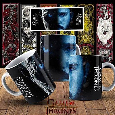 Caneca Alça e Interior Branco Game Of Thrones Mod.1