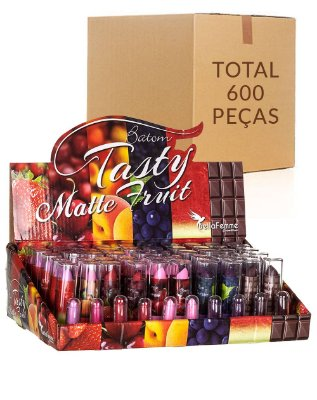 Batom Fruit – Bella Femme BF10025 – Caixa Fechada com 12 Displays
