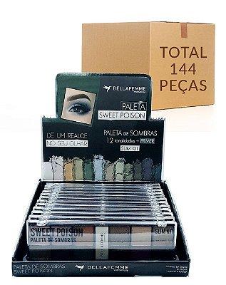 Paleta de Sombras Sweet Poison – Bella Femme BF10056C – Caixa Fechada com 12 Displays