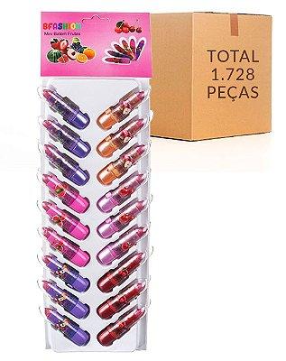 Mini Batom Cartela – Bella Femme TR30001 – Caixa Fechada com 48 cartelas