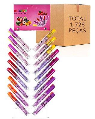 Lip Gloss Frutas – Bella Femme TR30004 –  Caixa Fechada com 48 Cartelas