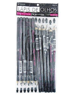 Lápis Preto de Olhos – Solapa com 12 unidades