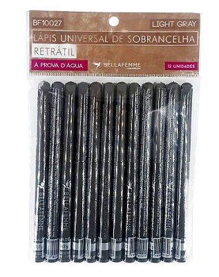 Lápis Retrátil de Sobrancelha – Light Brown – Solapa com 12 unidades