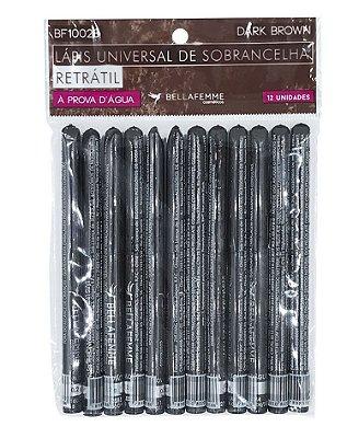 Lápis Retrátil de Sobrancelha – Dark Brown – Solapa com 12 unidades