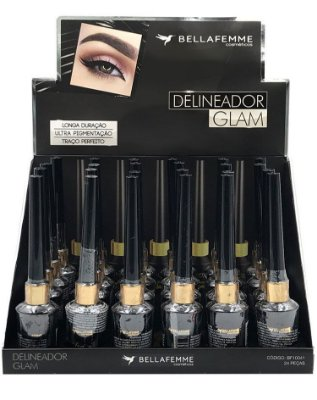 Delineador Líquido – Glam Black – Display com 24 unidades