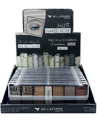 Paleta de Sombras Naked Rose – Display com 12 estojos