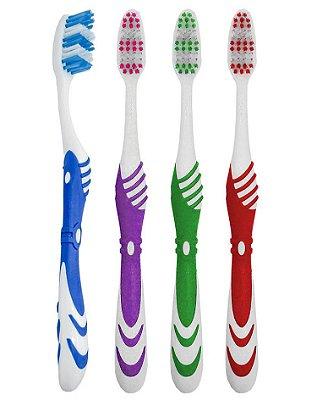 Escova Dental Média Onda Refrescante - 60 dúzias