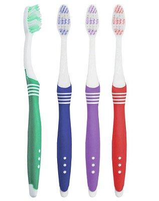 Escova Dental Média com Cabo Anatômico - 60 dúzias