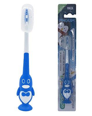 Escova Infantil Pinguim - Solapa com 12 unidades