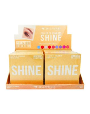 Paleta de Sombras Shine – Display com 12 estojos