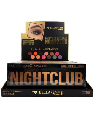 Paleta de Sombras Nightclub – Display com 12 estojos