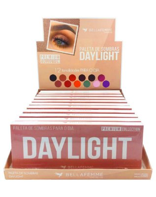 Paleta de Sombras Daylight – Display com 12 estojos